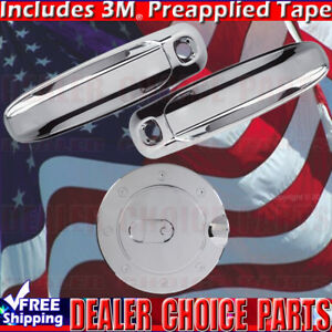 For 2002 2008 Dodge Ram 1500 03 09 2500 3500 Chrome Door Handle Covers W Pkh Gas