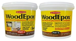 New Abatron Woodepox Epoxy Wood Replacement Compound 2 Quart Kit Part A