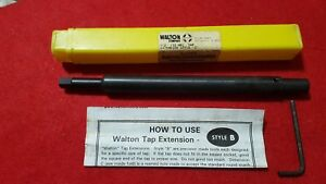 New Walton Style B 1 2 12mm Tap Extension Model 40050 Made In The U s a