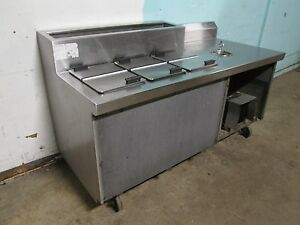 randell Hd Commercial Ice Cream Dipping Freezer With Refrigerated Topping Rail