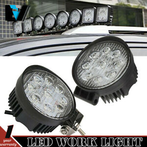 2x 4inch 27w Osram Led Work Light Bar Flood Offroad 4wd Motorcycle Jeep Truck 4