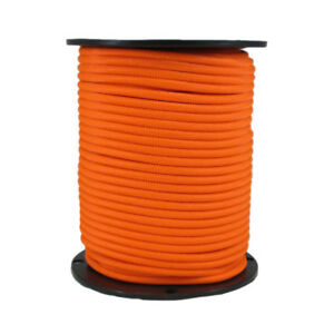 1 4 250 Ft Bungee Shock Cord Neon Orange Marine Grade Heavy Duty Shock Rope