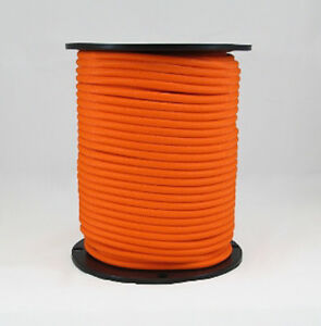 1 4 500 Ft Bungee Shock Cord Neon Orange Marine Grade Heavy Duty Shock Rope