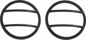 Kentrol 50014 Set Of 2 Black Powder Coated Fog Light Covers For Jeep Wrangler Jk