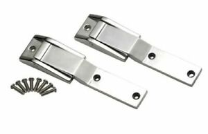 Kentrol 30478 Polished Stainless Steel Tailgate Hinges For 97 04 Jeep Wrangler