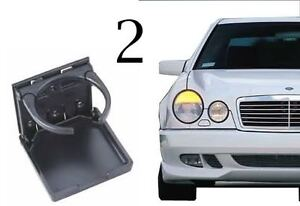 2 Black Mercedes Benz Stock Factory Look E300 Cupholder Cup Drink Holder W124