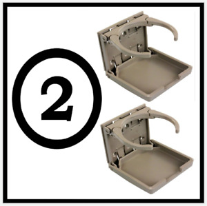 2 Beige Mercedes Benz Stock Factory Look E300 Cupholder Cup Drink Holder W124
