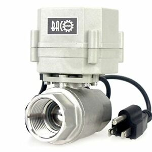 Bacoeng 1 Dn25 110vac Stainless Steel Motorized Ball Valve 2 Way zone Valve