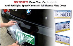 License Plate Cover Anti Red Light Camera Speed Camera Photoshield 2 Covers