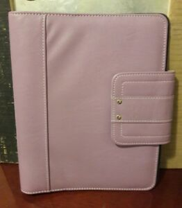 A5 1 0 Lavender Leather Day Timer Planner Binder Classic Franklin Covey