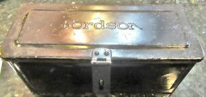 Vintage Fordson Tractor Toolbox Original Paint Nos