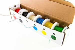 Solid 30 Gauge Wire Wrap Kynar Insulated Wire Kit 100 Spools 6 Assorted Colors