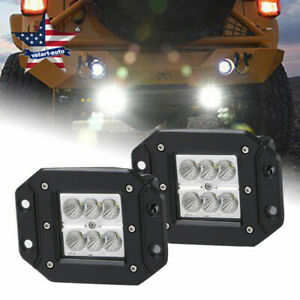 3x3inch 18w Led Work Lights Flood Square Pods Offroad Truck Pickup Ute Boat