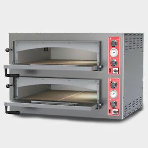 Commercial Kitchen Countertop Double Deck Electric Heavy Duty Pizza Oven