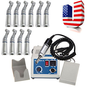 35krpm Marathon Dental Lab Electric Micromotor 10 Slow Contra Angle Fit Nsk Fh n