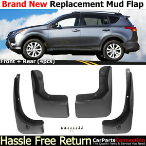 Front Rear Mud Flaps Splash Guards 2013 2014 Toyota Rav4 Mudguards Full Set