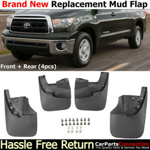 Complete Front Rear Mud Flaps Splash Guards 2007 2013 Toyota Tundra Mudguards