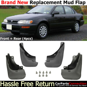 Front Rear Mud Flaps Splash Guards For 1993 1997 Toyota Corolla Mudguards