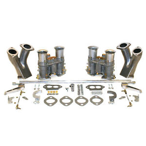 Empi 47 7331 Dual 48 Epc Carburetor Kit With Race Manifolds Hex Bar Linkage