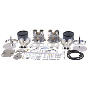 Empi 47 7317 Dual 40mm Hpmx Carburetor Kit With Linkage Air Cleaner