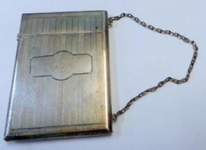 Monogrammed Antique Victorian Sterling Silver Women S Calling Card Case
