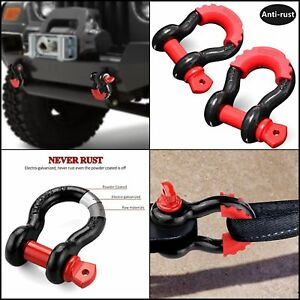 2pack Shackles 3 4 D Ring Shackle Rugged Off Road 28 5 Ton 7 8 Pin Heavy Duty