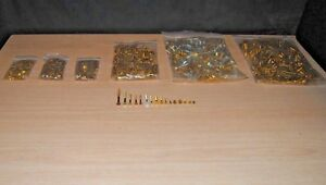 Vintage Solid Brass And Steel Wood Screws Lot Many Different Sizes 8gpy23