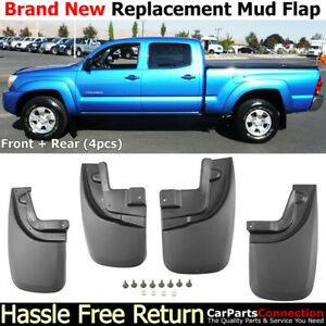 Front Rear Mud Flaps Splash Guards 2005 2015 Toyota Tacoma Mudguards Full Set