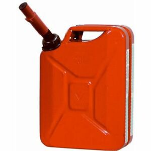 5 gallon Midwest Can Steel Gasoline Jerry Fuel Can