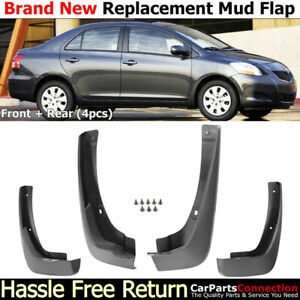 Front Rear Mud Flaps Splash Guards 2007 2012 Toyota Yaris Sedan Mudguards