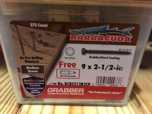 375 Count Medium Brown Barracuda Composite Deck Screw 9 X 2 1 2 Inch