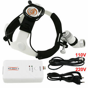 Kws Dental Surgical Headlight Medical Headlamp Ac dc 3w Led Kd 202a 3 Us Stock