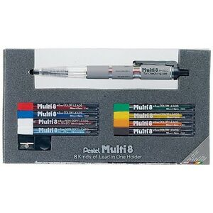 Pentel Ph802st Multi 8 Mechanical Pencil Set 8 Color Leads F s From Japan