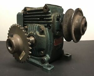 Foote Bros radicon Gearbox Speed Reducer 25 1 Ratio Used