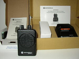 New Motorola Minitor V 5 Uhf Band Pager 453 462 Mhz 2 chan Non stored Voice