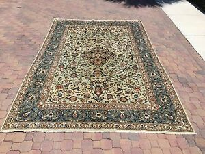 100 Authentic Kashan Rug Made With Natural Colors Very Rare W Signature