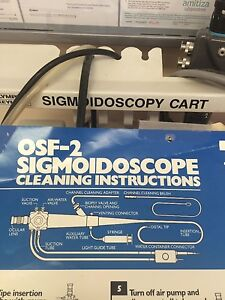 Olympus Osf 2 Borescope Endoscope Sigmoidoscope Endoscopy With Case And Extras