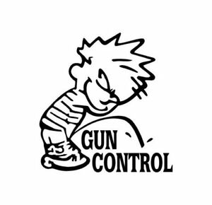Piss On Gun Control Decal Choose Size And Color 023