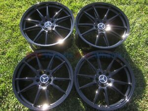 19 20 Mercedes Amg C63s C63 S Wheels Oem Factory Black Rims W205 Forged
