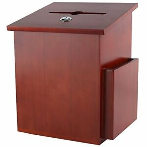 My Charity Boxes Wood Suggestion Box Ballot Box With Pocket Locking