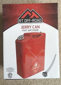 Jeep Crown 5 Gallon 20 Liter Metal Safety Gas Jerry Can Red 11010r Rt26010