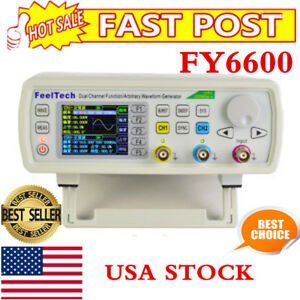30mhz Feeltech Fy6600 Dds 2ch Function Arbitrary Waveform Generator Frequency Us