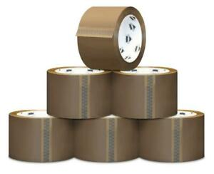108 Rolls Brown Tan Packing Shipping Packaging Tape 1 8 Mil 2 X 55 Yards