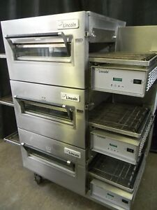 Lincoln Impinger Conveyor Triple Stack Electric Pizza Oven 1132