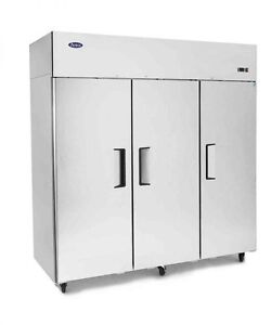 New 3 Door Commercial Reach In Refrigerator Cooler 2 Year Warranty Free Shipping