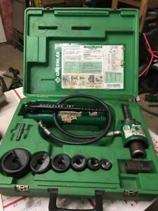 As Is Greenlee 7306sb Hydraulic Punch Set 1 2 3 4 1 1 1 4 1 1 2 2 3779