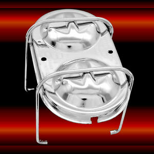 Chrome Dual Bail Master Cylinder Cover For Gm Chevy Oldsmobile Pontiac Buick
