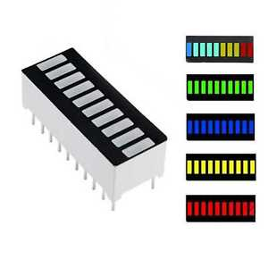 2 4pcs Led Amber Bar Graph Display 10 Segments Led Displays 10 Bargraph