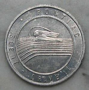 Original Nos 1920s 1930s Pontiac Silver Streak Advertising Token Or Medal D499
