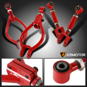 Rear Camber Arm Toe Kit For 1989 1994 Nissan 240sx S13 Red